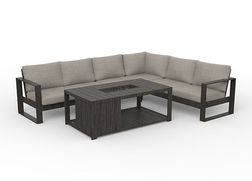 Cosmo Sectional with Firepit