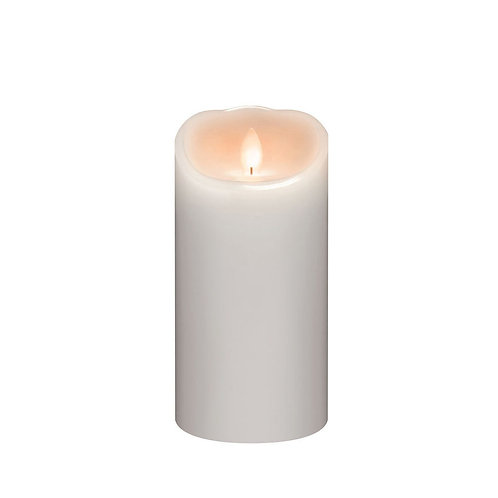 LED Pillar Candle- White