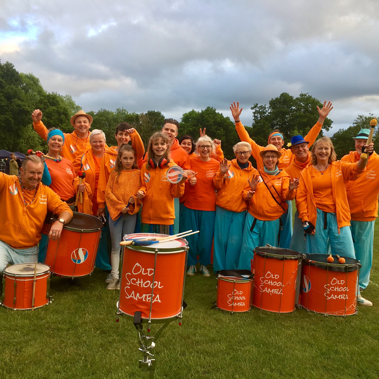 Old School Samba at the Marlborough House School Camp out
