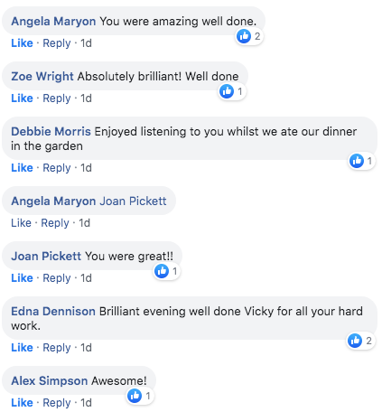 Picnic in the park facebook comments
