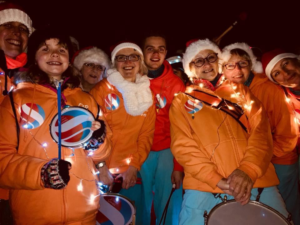 Old School Samba at the Yalding Christmas Fair.