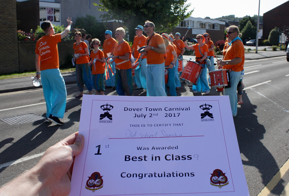 """Old School Samba """"Best in Class"""" at Dover Town Carnival"""