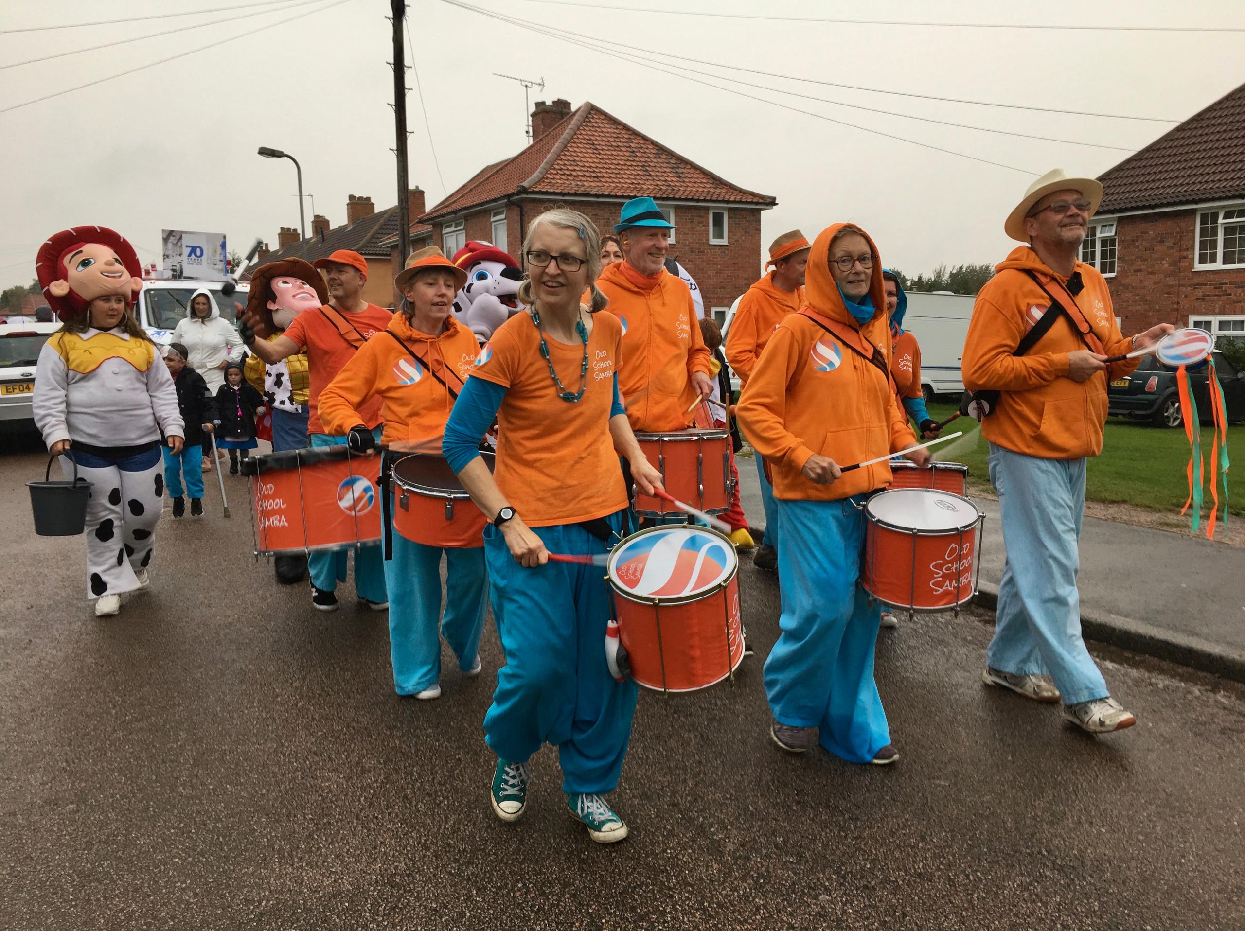 Old School Samba at Aylesham's Carnival Parade 2018