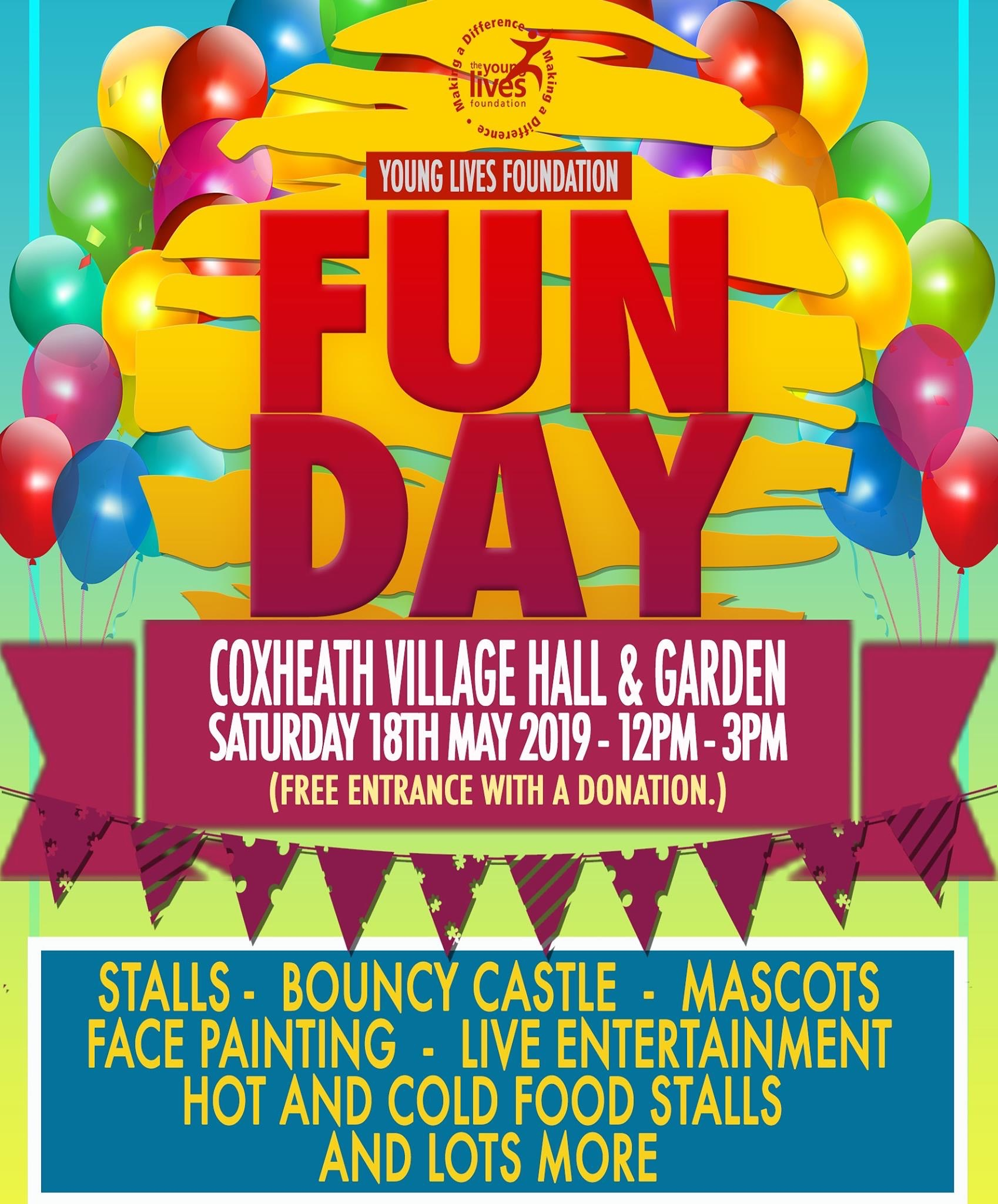 Young Lives Foundation's  Coxheath Fun Day poster