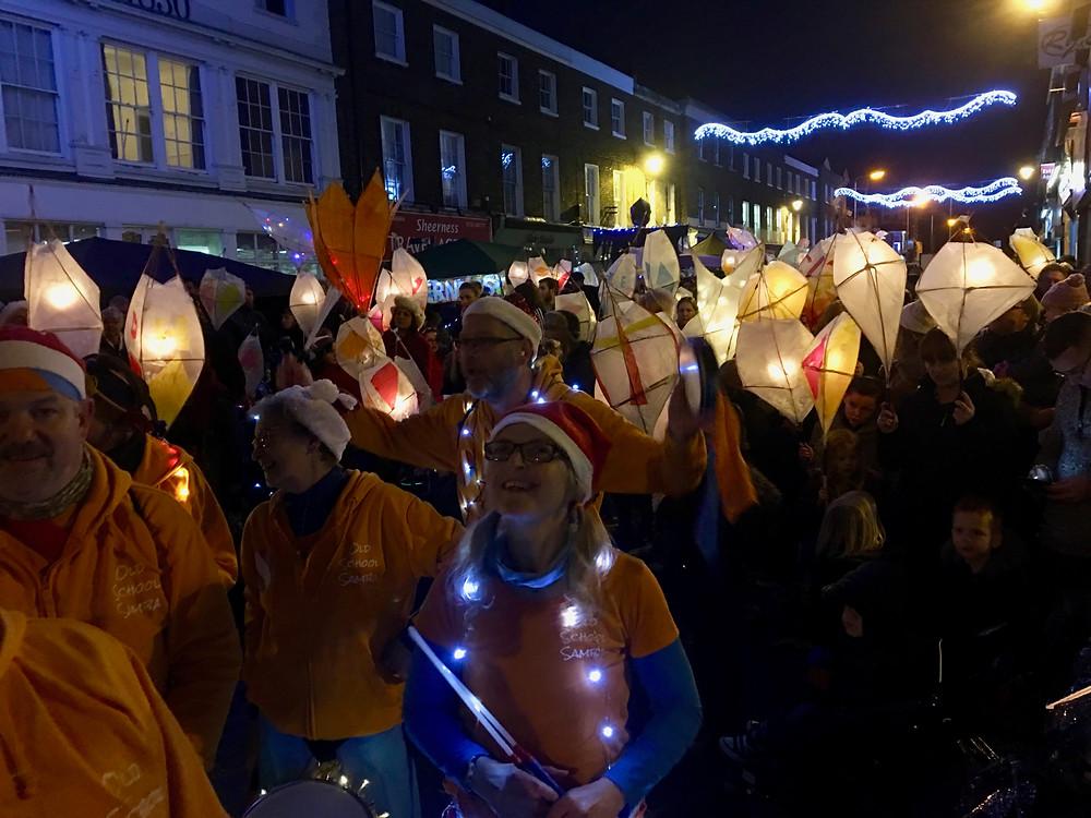 Old School Samba At the Sheerness lantern parade