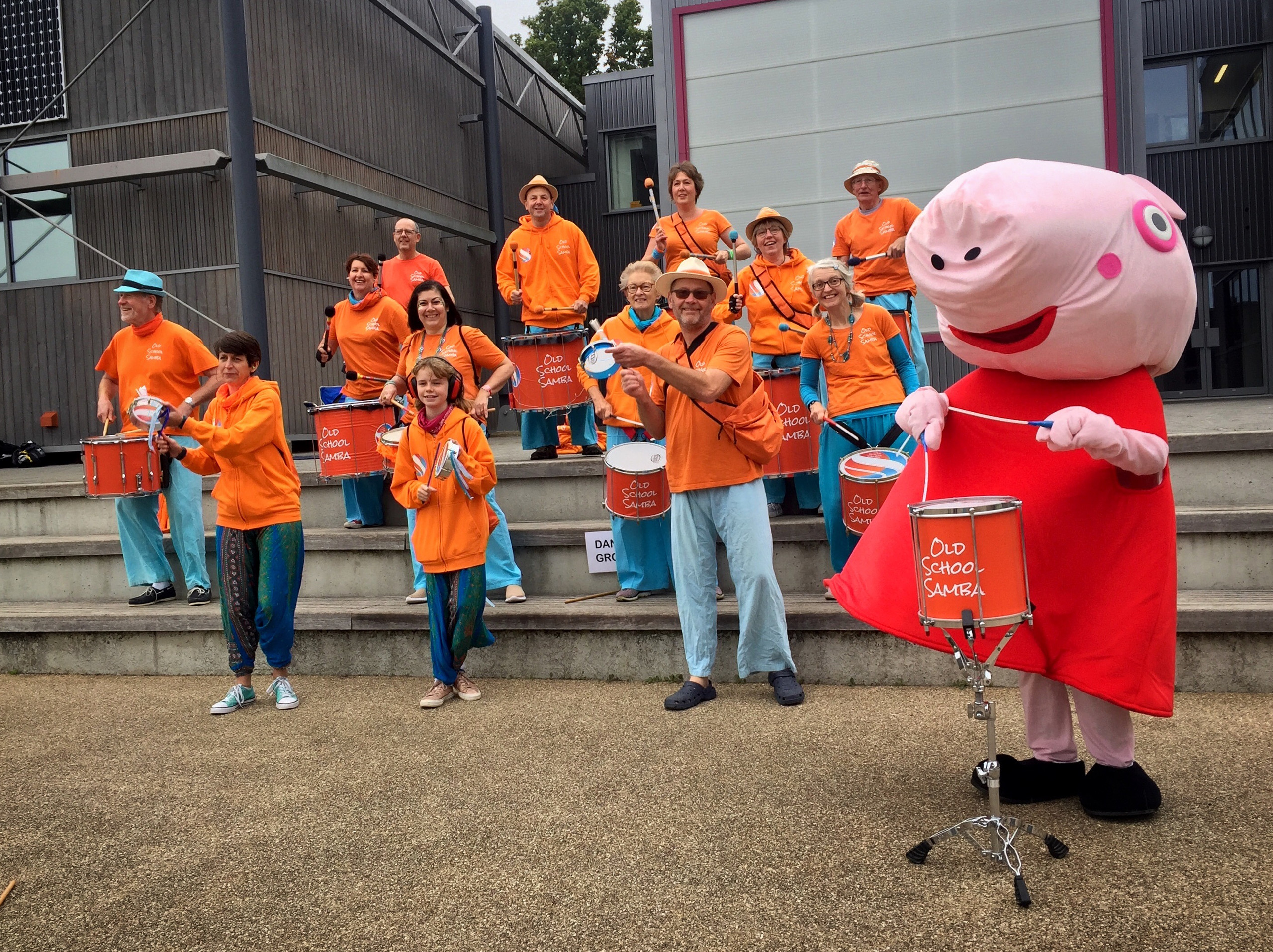 Peppa Pig and Old School Samba at the Holding On Letting Go Event