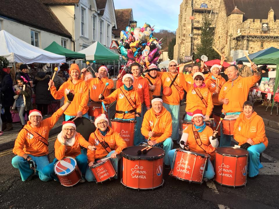 Old School Samba at the Wrotham Christmas Fair