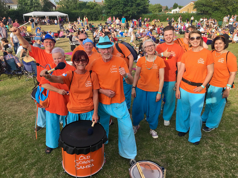Old School Samba at Party in The park, Coxheath