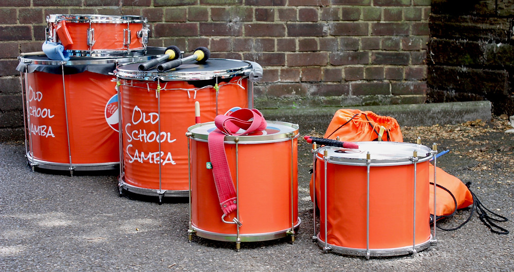 Old School Samba Drums at the Northfleet Carnival 2017