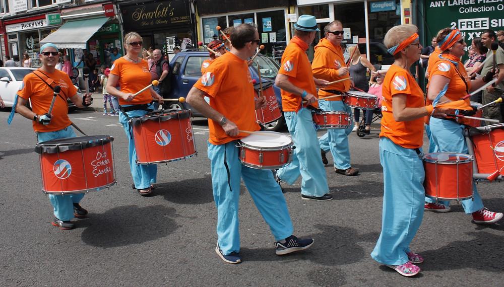 Old School Samba at the Northfleet Carnival 2017