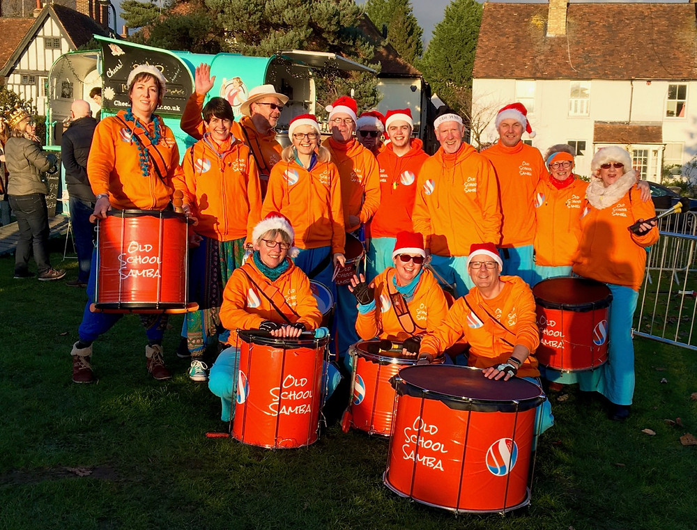 Old School Samba at Bearsted's Christmas Fair on the green.