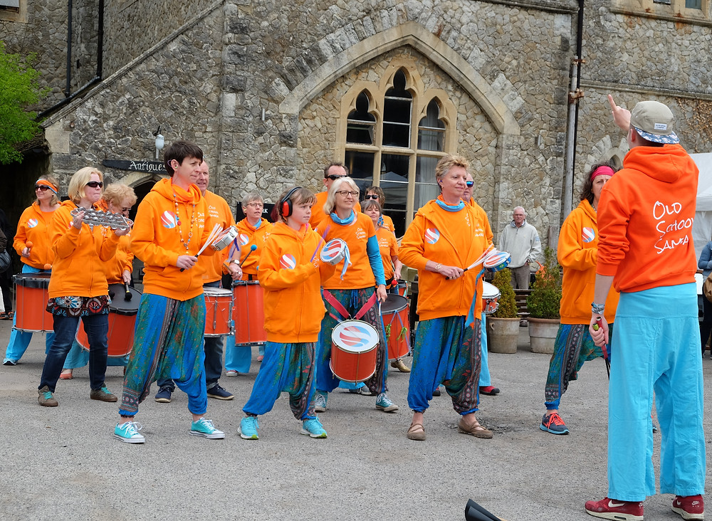 Old School Samba playing at the Old School Hall