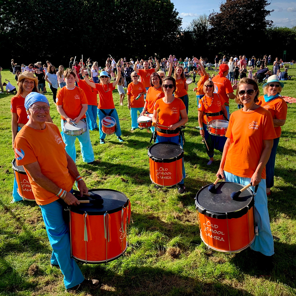 The Old School Samba band at the Loose Music festival