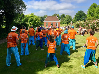 Old School Samba playing on the lawn at Smith's Hall