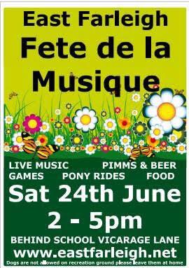 East Farleigh Fete de la Musique poster