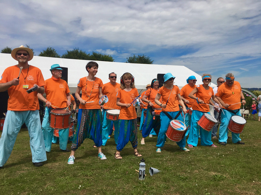 Old School Samba band performing at East Farleigh Fete de la Musique