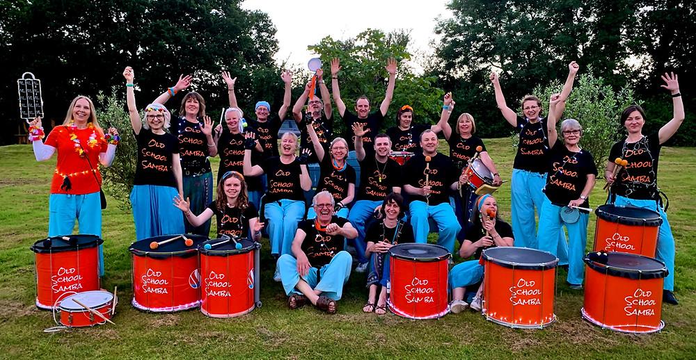 Old School Samba Band group shot.