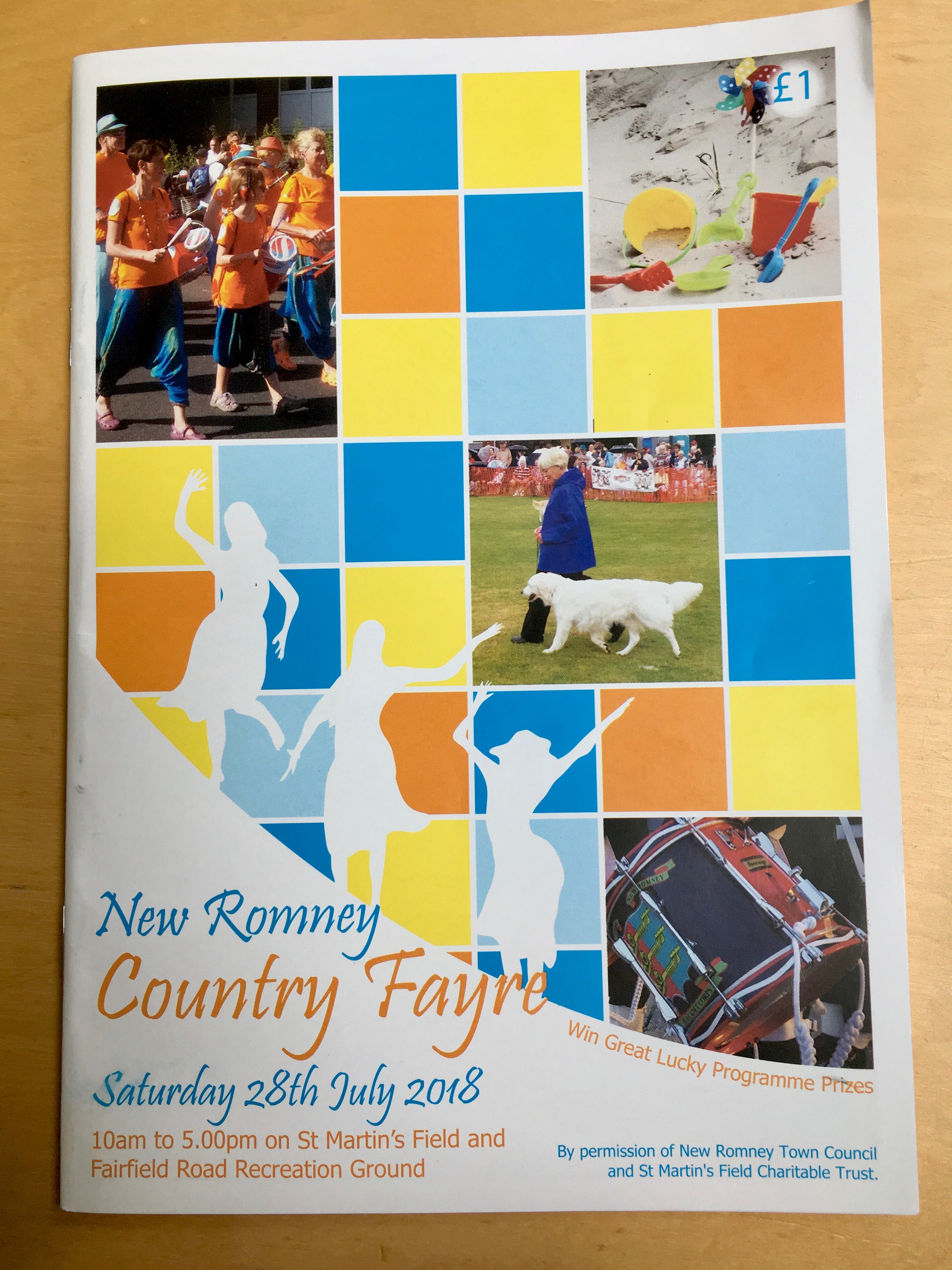 Old School Samba on the front of the official Programme for The New Romney Country Fayre