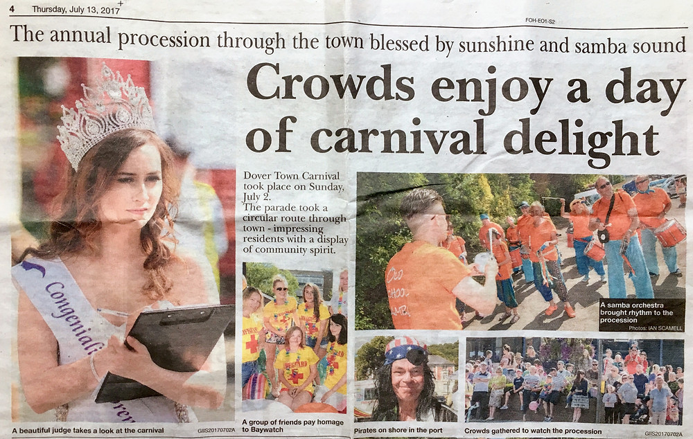 Old School Samba in the Kent Messenger
