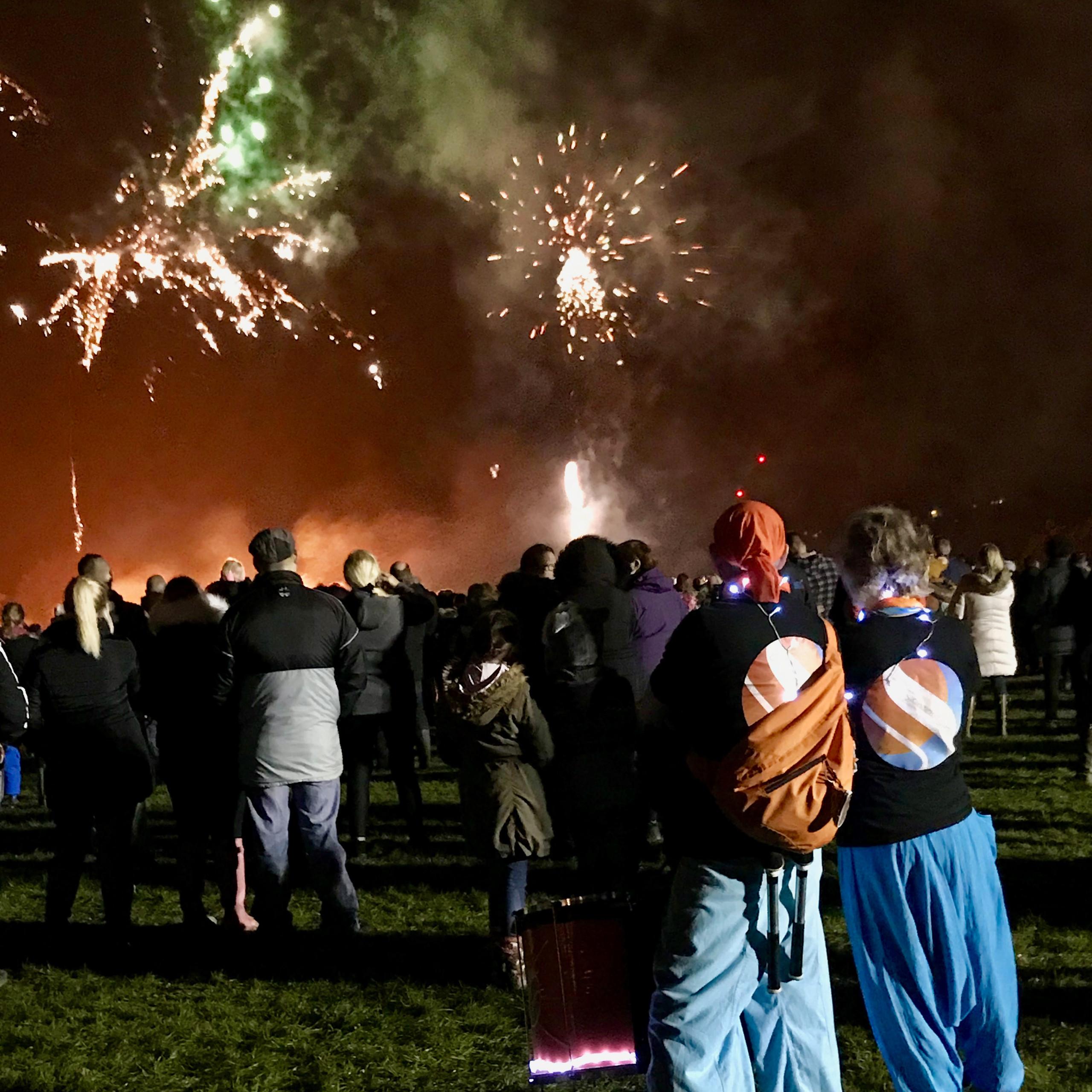 Old School Samba at West Farleigh Fireworks 2019
