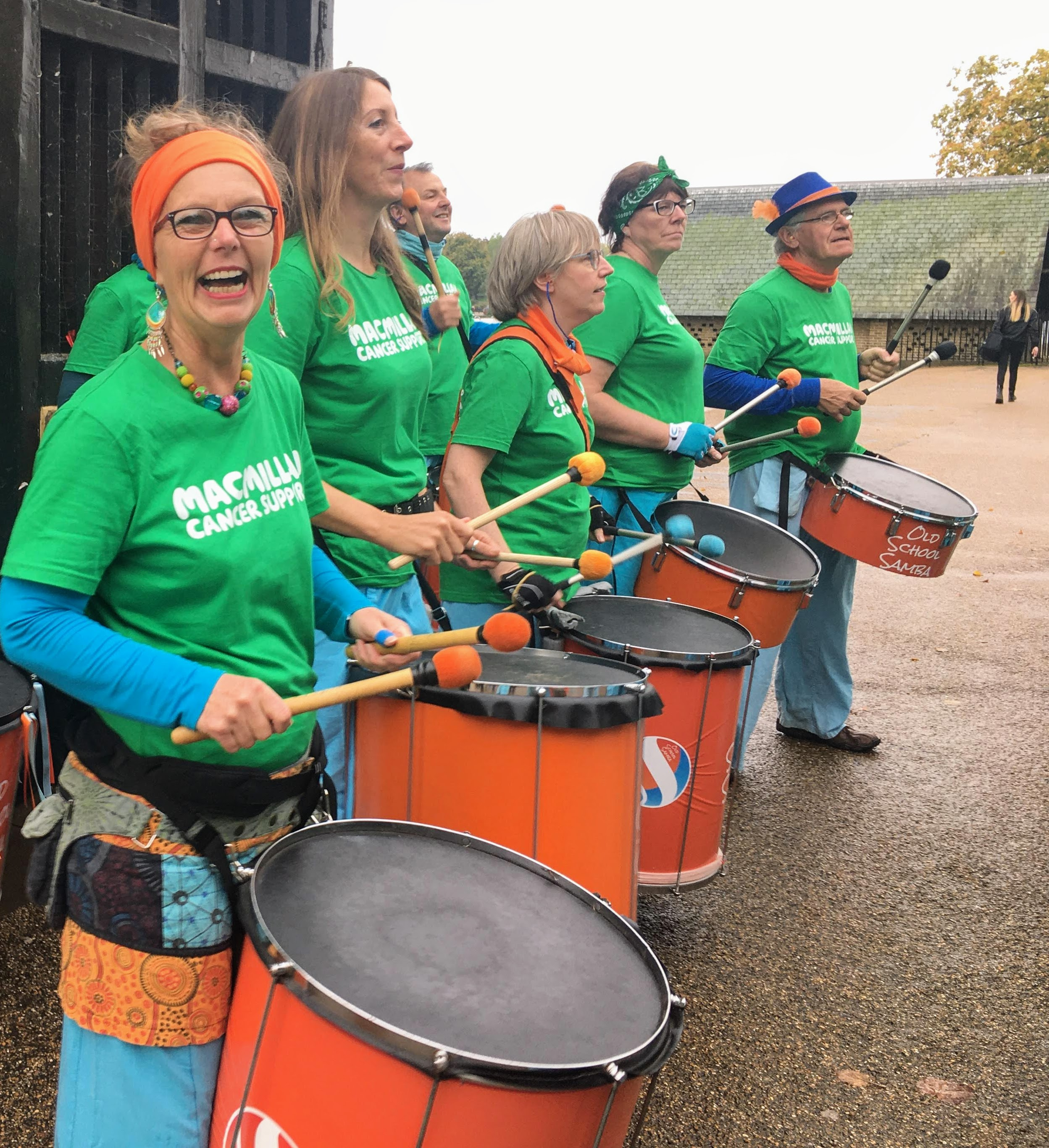 Old School Samba at the Royal Parks Half marathon