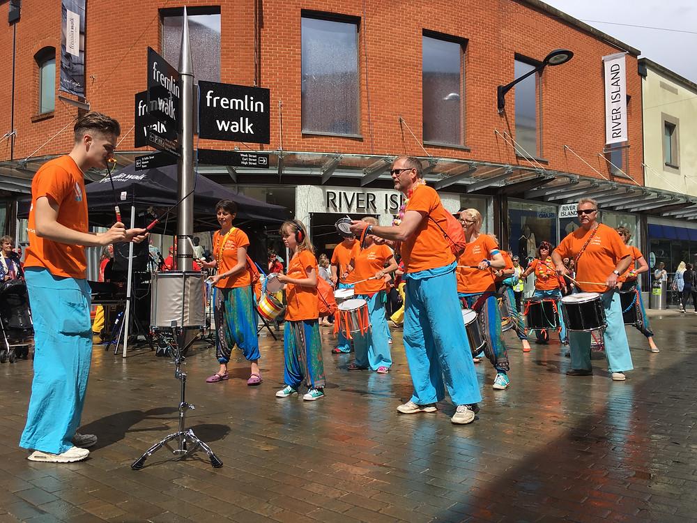 Old School Samba in Fremlin Walk Maidstone
