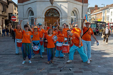 Group shot of Old School Samba in Maidstone