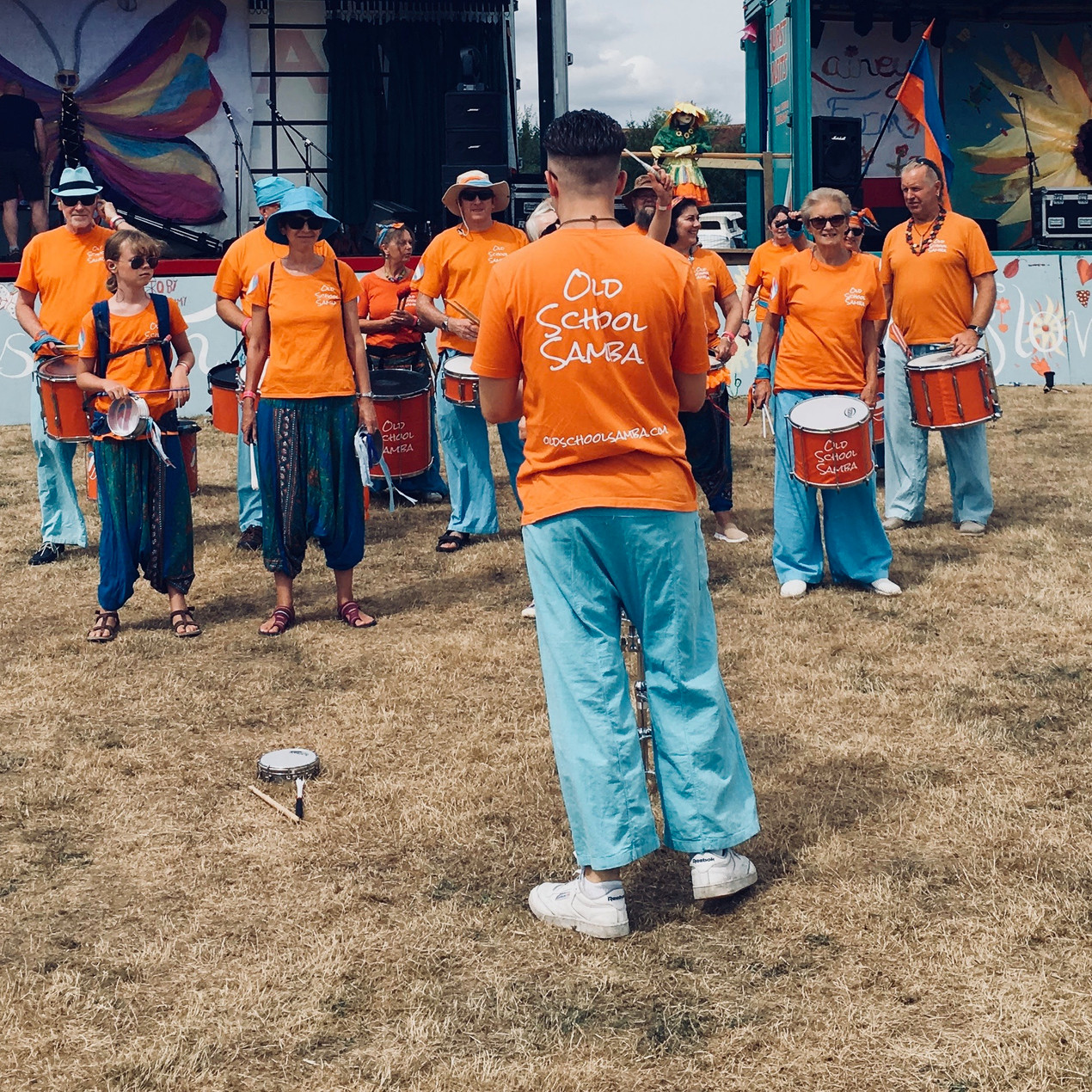 Old School Samba band performing at Littlefest 2018 near Staplehurst Kent