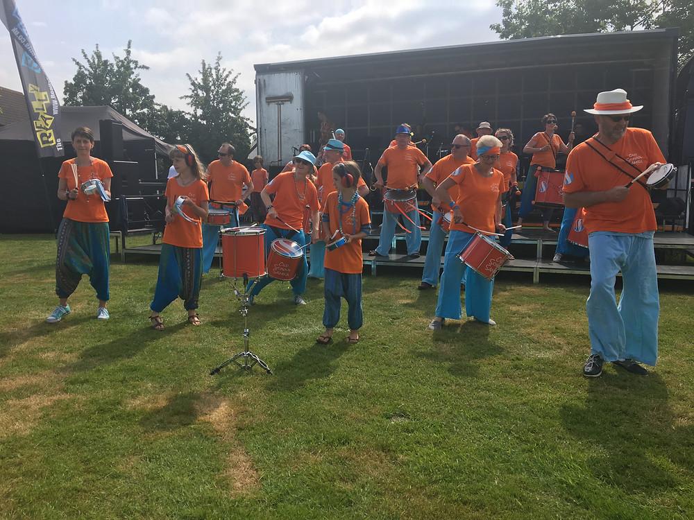 Old School Samba band playing at Marden's Big Musical Picnic