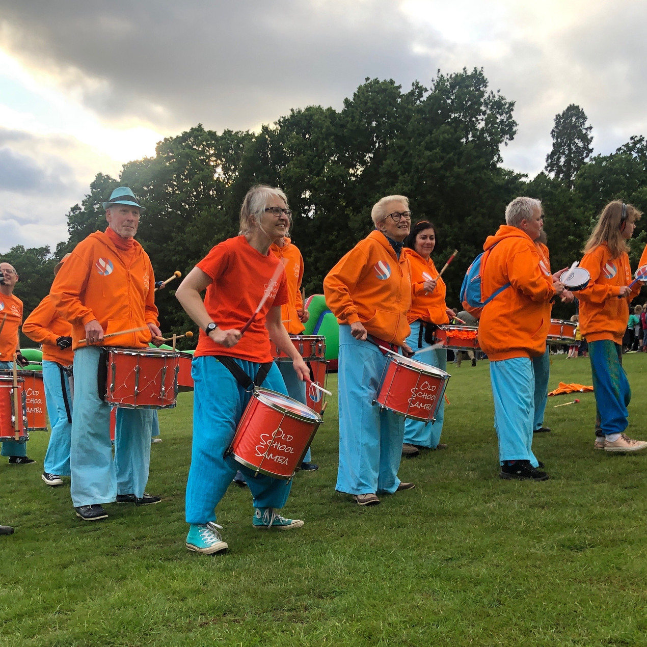 Old School Samba performing at the Marlborough House School Camp out