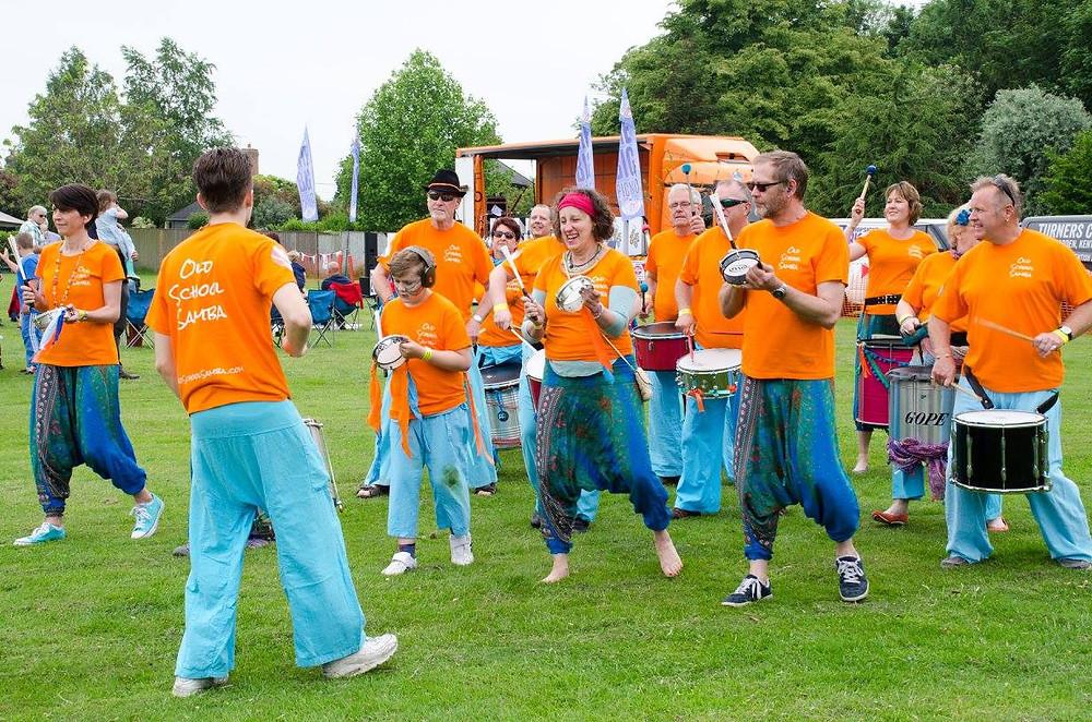 Old School Samba Band Playing at Marden's BIG Musical Picnic in Kent