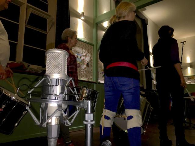 Old School Samba Recording session