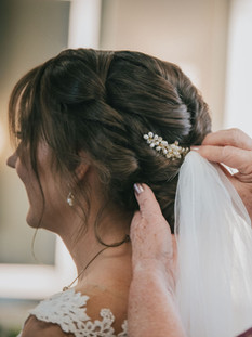 Bridal updo for Alison