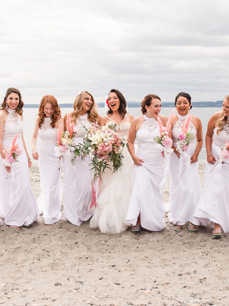 Efrossini and her bridesmaids
