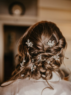 Romantic hairstyle for Tara