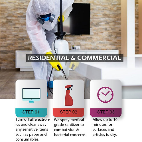 Sanitizing Service - Residential & Commercial