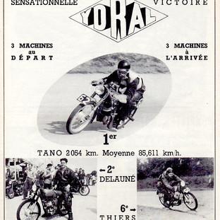 1953 Publicité victoires au Bol d'Or