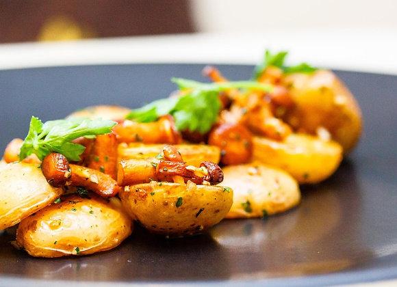Картофель печеный с зеленью