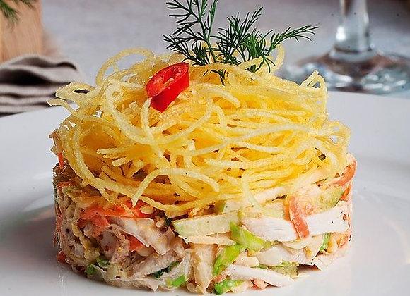 Салат с бужениной и картофелем Пай
