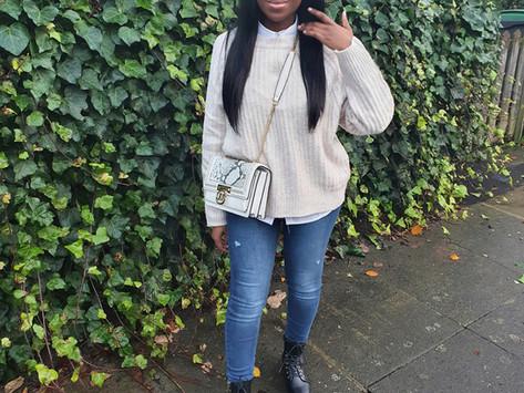 Knitwear, jeans & boots