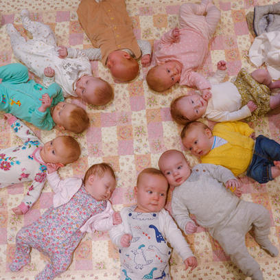 Baby group pose idea