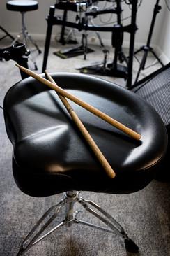 Drummer at rest
