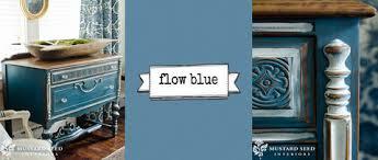 peinture au lait Miss MS Flow blue