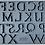 Thumbnail: Moule silicone 'Victoria' lettres
