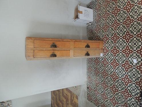 bloc 4 tiroirs en chêne