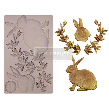 Moule silicone 'Meadow Hare'/Lapin, redesign