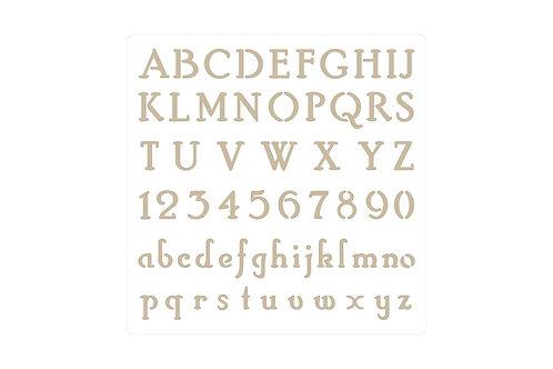 Chiffres et lettres, pochoir Autentico