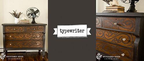 peinture au lait Miss MS Typewriter