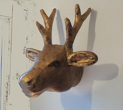 Trophée de chevreuil  patine cuivre