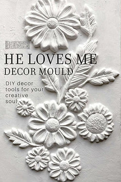 Moule silicone 'He loves me'